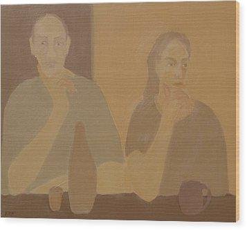 Contemplation Wood Print by Renee Kahn