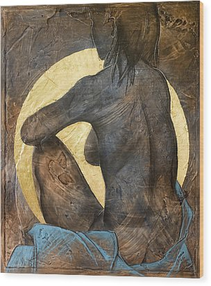 Contemplation Wood Print by Richard Hoedl