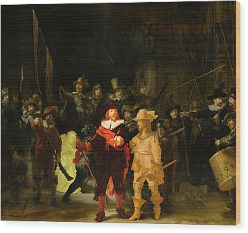 Contemporary 1 Rembrandt Wood Print by David Bridburg