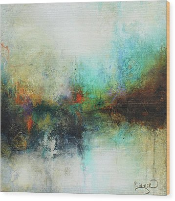 Contemporary Abstract Art Painting Wood Print by Patricia Lintner