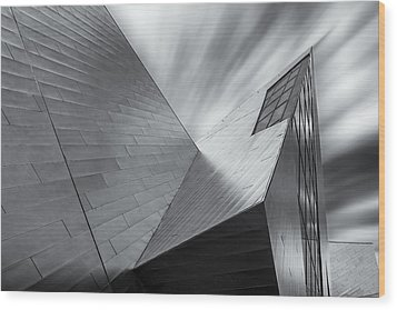 Wood Print featuring the photograph Contemporary Architecture Of The Shops At Crystals, Aria, Las Ve by Adam Romanowicz