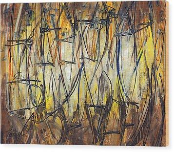 Contemporary Art Three Wood Print