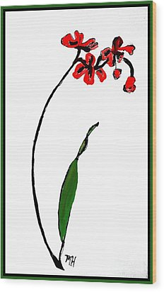 Wood Print featuring the painting Contemporary Orchids by Marsha Heiken