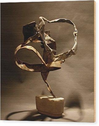 Contortion Wood Print by Richard Heffron