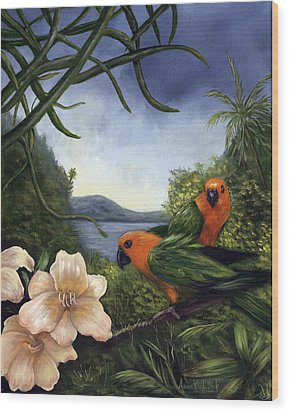Conures Wood Print