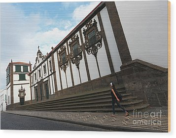 Convent In Azores Islands Wood Print by Gaspar Avila