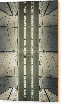 Wood Print featuring the photograph Convention Center Ceiling by Alexander Kunz