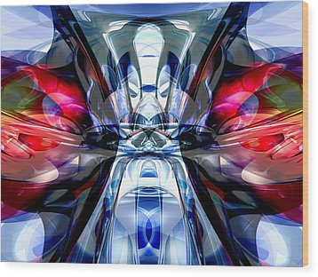 Convergence Abstract Wood Print by Alexander Butler
