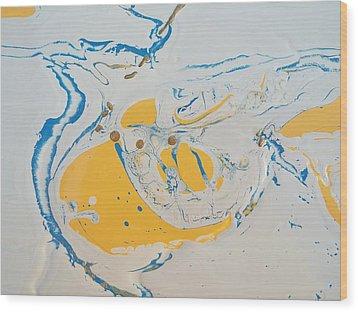Convertible Flooded In Vegas Wood Print by Gyula Julian Lovas