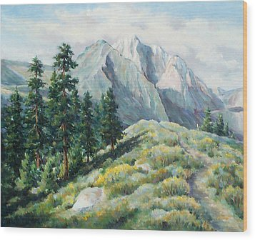 Convict Lake Guardians Wood Print by Don Trout