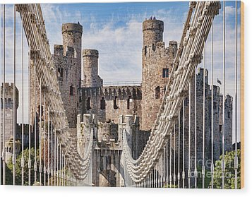 Wood Print featuring the photograph Conwy Castle Wales by Colin and Linda McKie