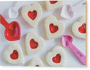 Wood Print featuring the photograph Cookie Baking Love by Teri Virbickis
