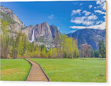Wood Print featuring the photograph Cook's Meadow Yosemite National Park by Scott McGuire