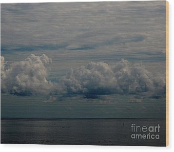 Cool Clouds Wood Print