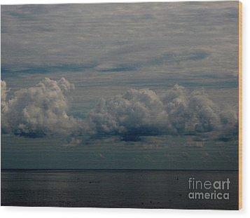 Cool Clouds Wood Print