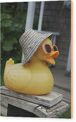 Cool Ducky Wood Print