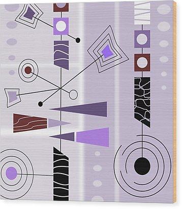 Cool New Purple Wood Print
