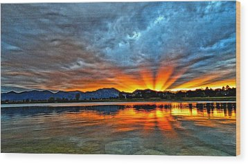 Wood Print featuring the photograph Cool Nightfall by Eric Dee