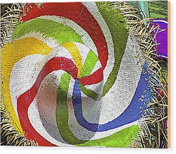 Cool Summer Hat Wood Print by Christine Till