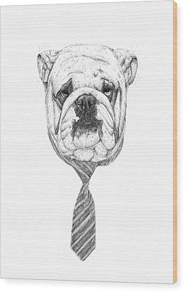 Cooldog Wood Print by Balazs Solti