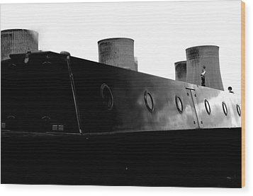 Wood Print featuring the photograph Cooling Barge by Jez C Self