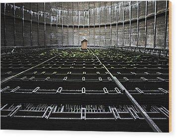 Wood Print featuring the photograph Cooling Tower Water Distribution by Dirk Ercken