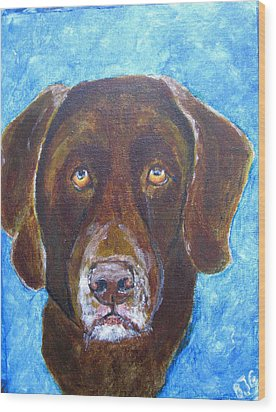 Wood Print featuring the painting Cooper 3 by Barbara Giordano