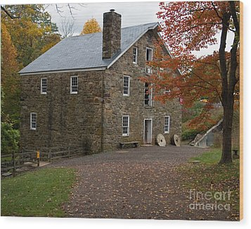 Cooper Mill Fall Wood Print by Robert Pilkington