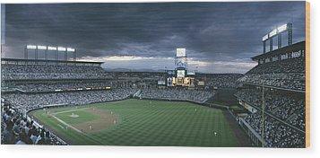 Coors Field, Denver, Colorado Wood Print by Michael S. Lewis