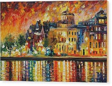 Copenhagen Original Oil Painting  Wood Print by Leonid Afremov
