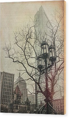Wood Print featuring the photograph Copley Square - Boston by Joann Vitali