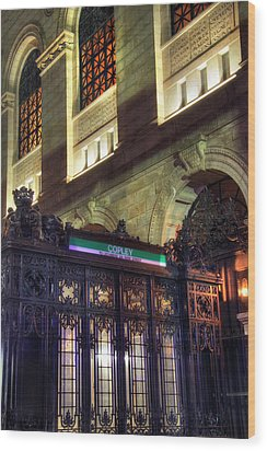 Wood Print featuring the photograph Copley Square T Stop - Boston by Joann Vitali