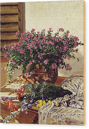 Copper And Lace Wood Print by David Lloyd Glover