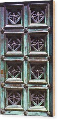 Copper Door Wood Print by Rob Tullis