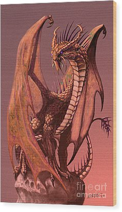 Copper Dragon Wood Print by Stanley Morrison