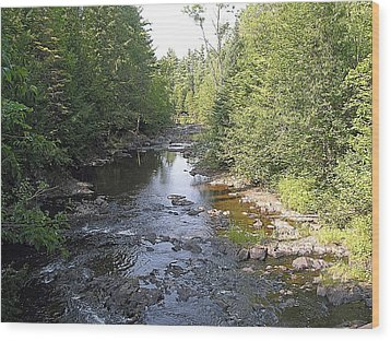 Copper Falls  River Wood Print