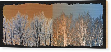 Wood Print featuring the digital art Coppertone Fusion by Will Borden