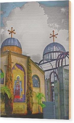 Coptic Church Rebirth Wood Print by Joseph Hollingsworth