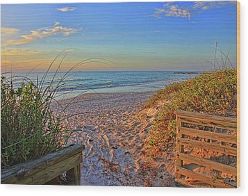 Coquina Beach By H H Photography Of Florida  Wood Print by HH Photography of Florida