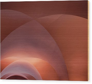 Coral Arched Ceiling Wood Print