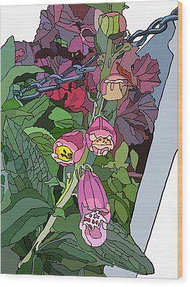 Coral Bells In The Garden Wood Print by Jamie Downs
