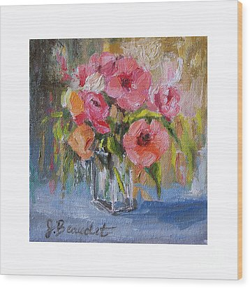 Wood Print featuring the painting Coral Bouquet by Jennifer Beaudet