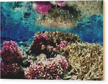 Coral Reef Wood Print