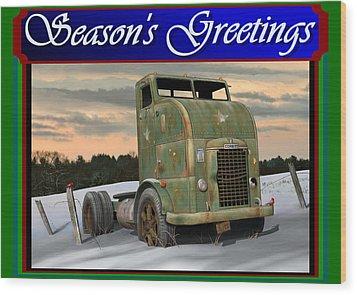 Wood Print featuring the digital art Corbitt Christmas Card by Stuart Swartz