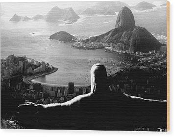 Corcovado - Rio De Janeiro - Brasil Wood Print by Eduardo Costa