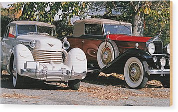 Cord Packard Wood Print by Paul  Trunk