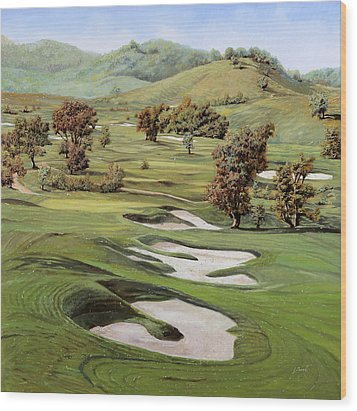 Cordevalle Golf Course Wood Print by Guido Borelli