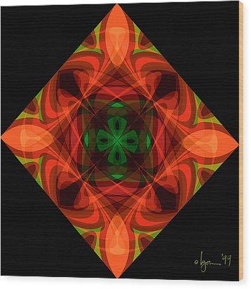 Core Wood Print by Angela Treat Lyon