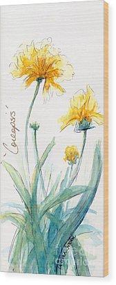 Coreopsis Wood Print by CheyAnne Sexton