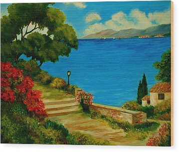 Corfu-greece Wood Print